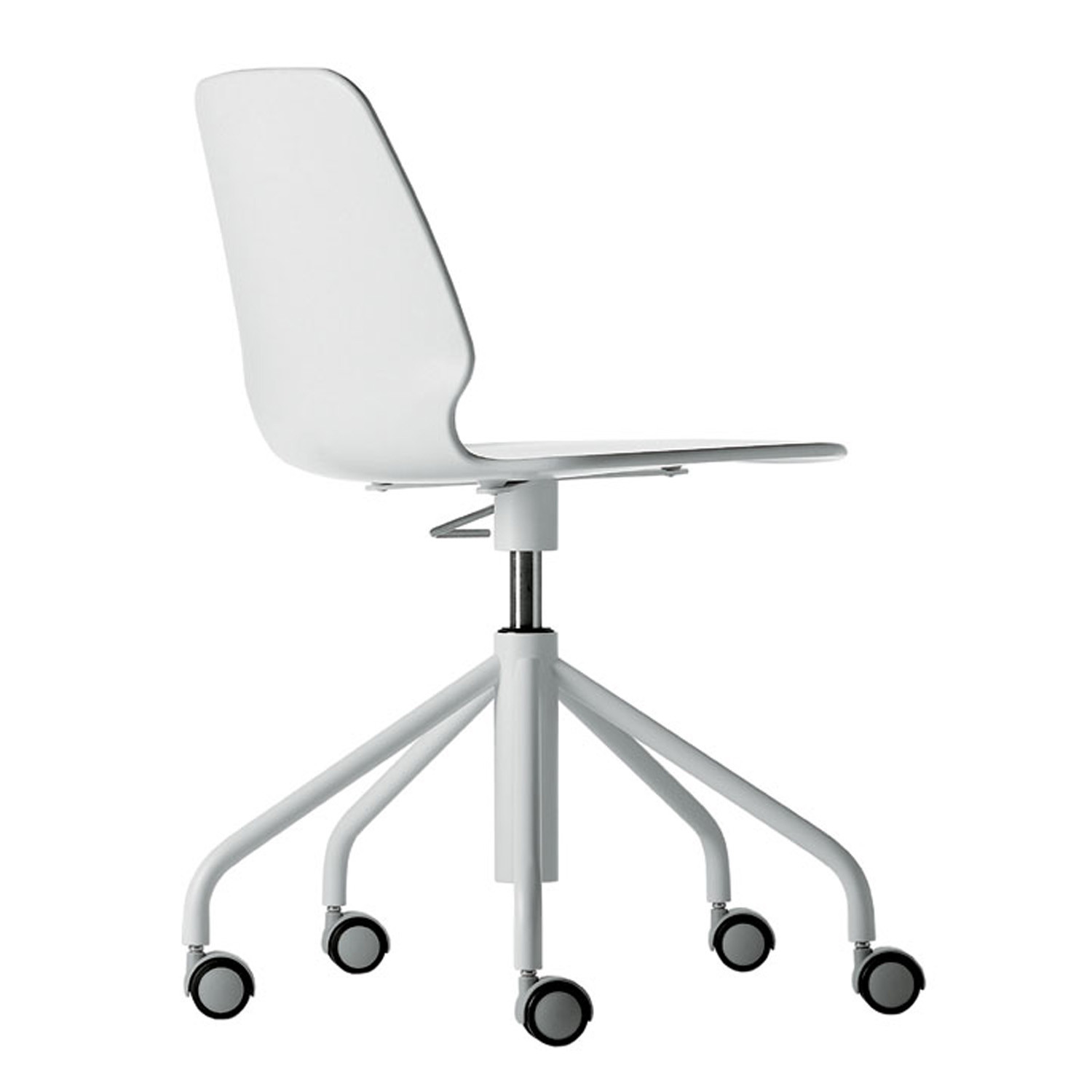 Selinunte Studio Chair - 5-Star Swivel Base on castors