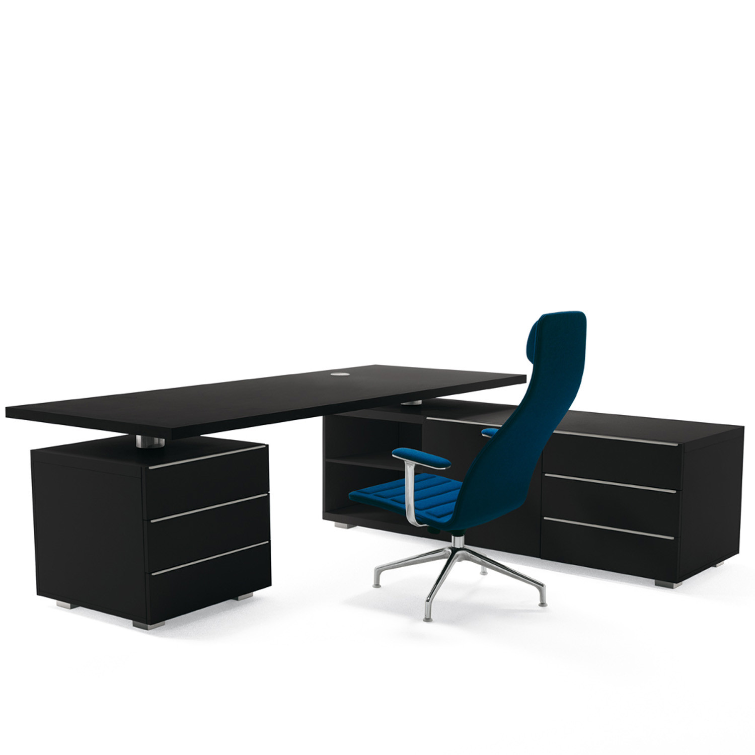 Senior Executive Desk with Return Cabinet