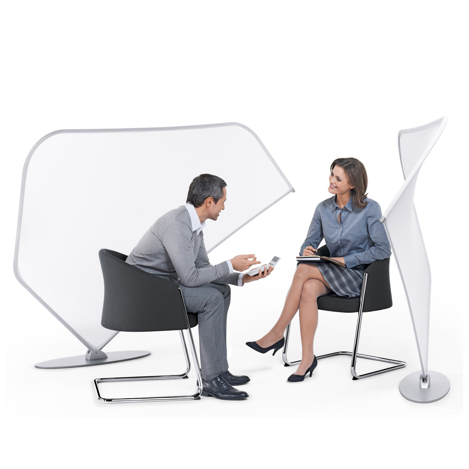 Silent Rush Chairs with Viswing Room Dividers