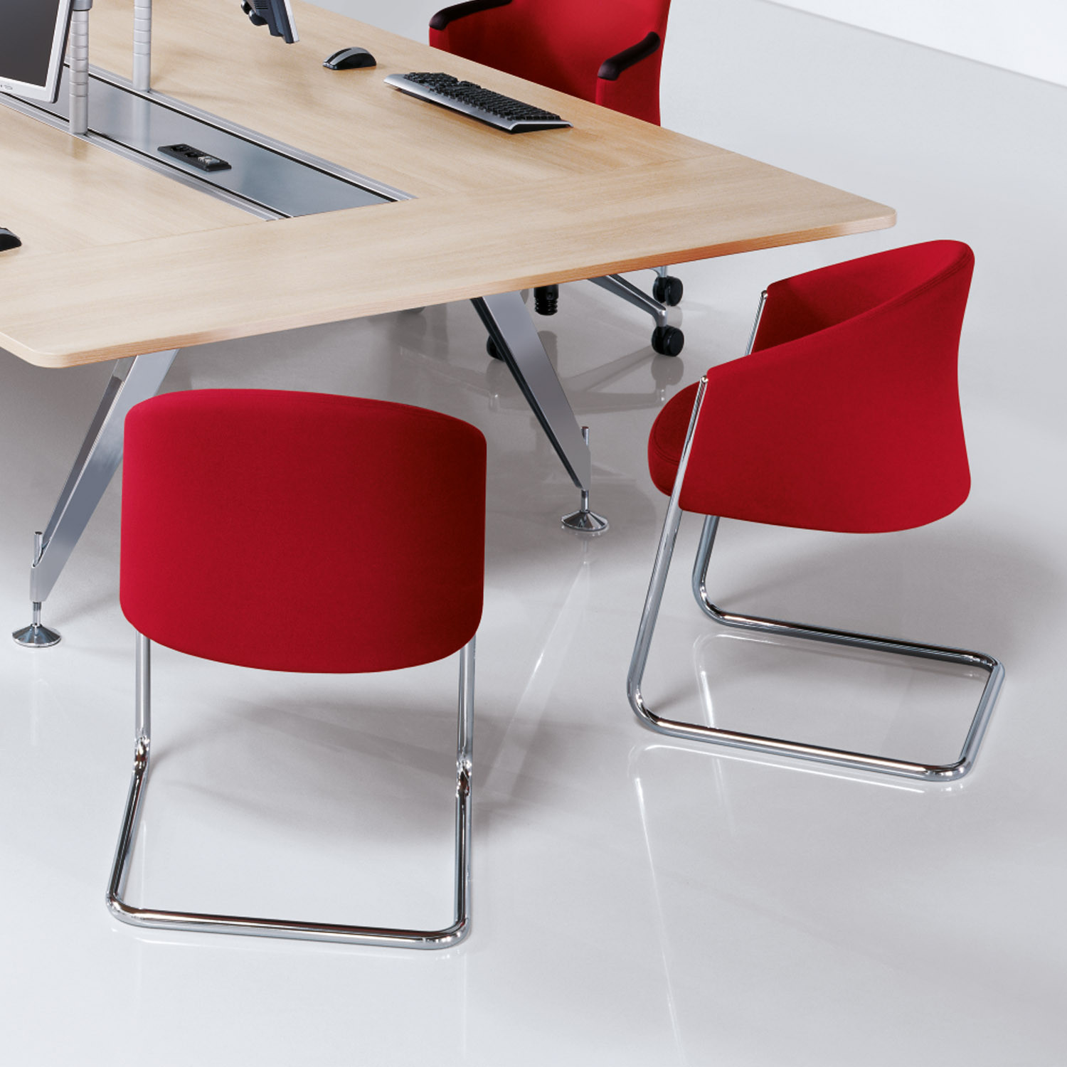Silent Rush Office Meeting Chairs by Sedus