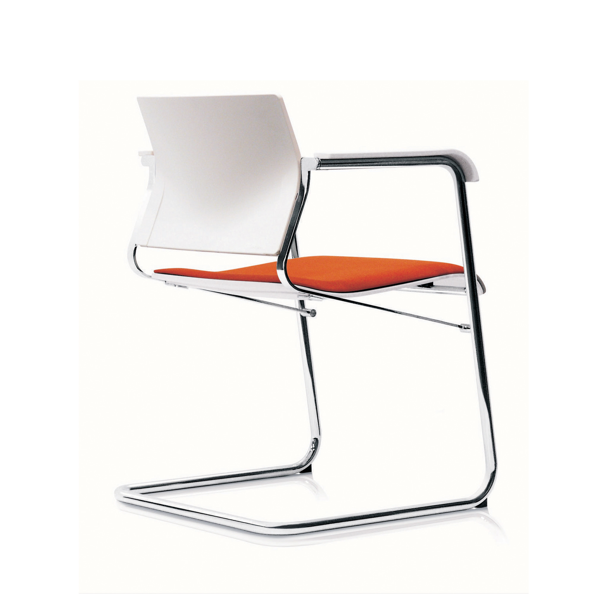 Sito Cantilever Armchair back detail - white