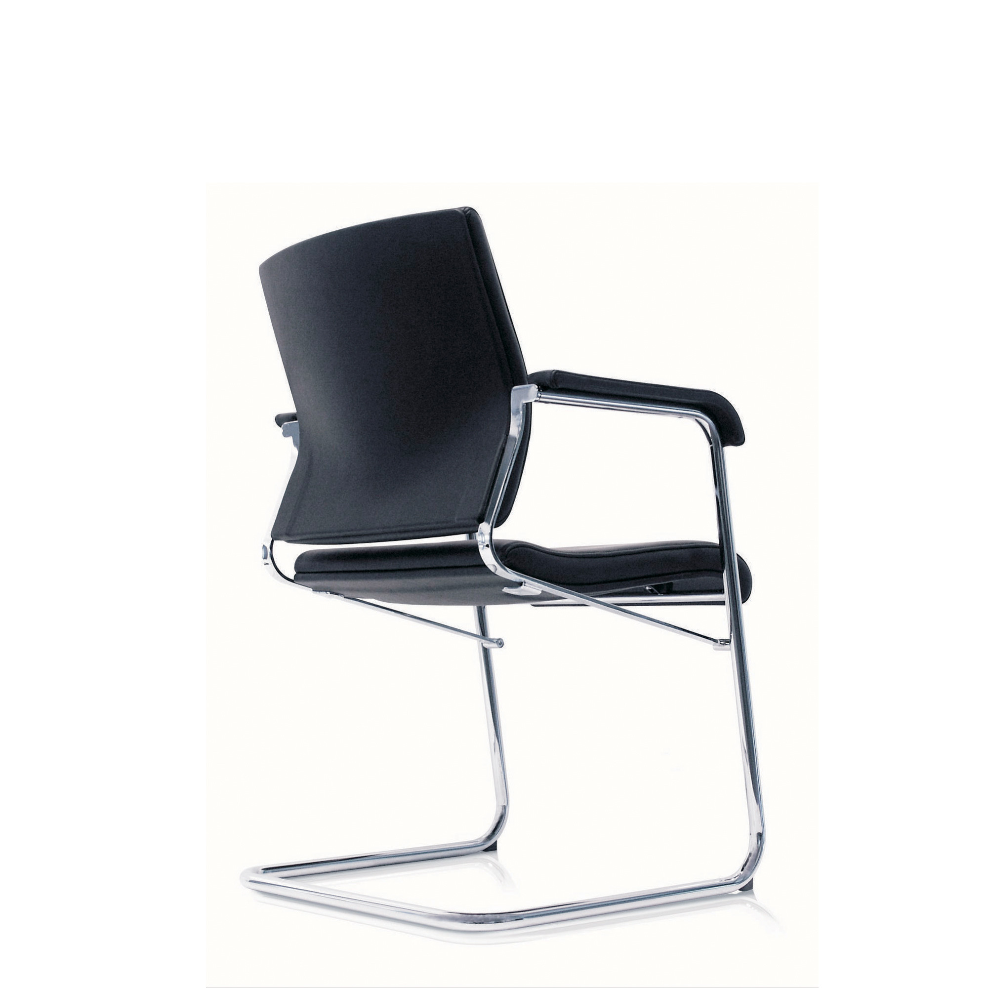 Sito Cantilever Armchair back detail - black