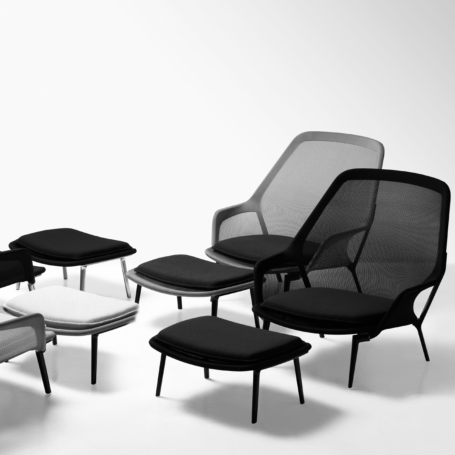 slow chair ottoman vitra slow seating apres furniture. Black Bedroom Furniture Sets. Home Design Ideas