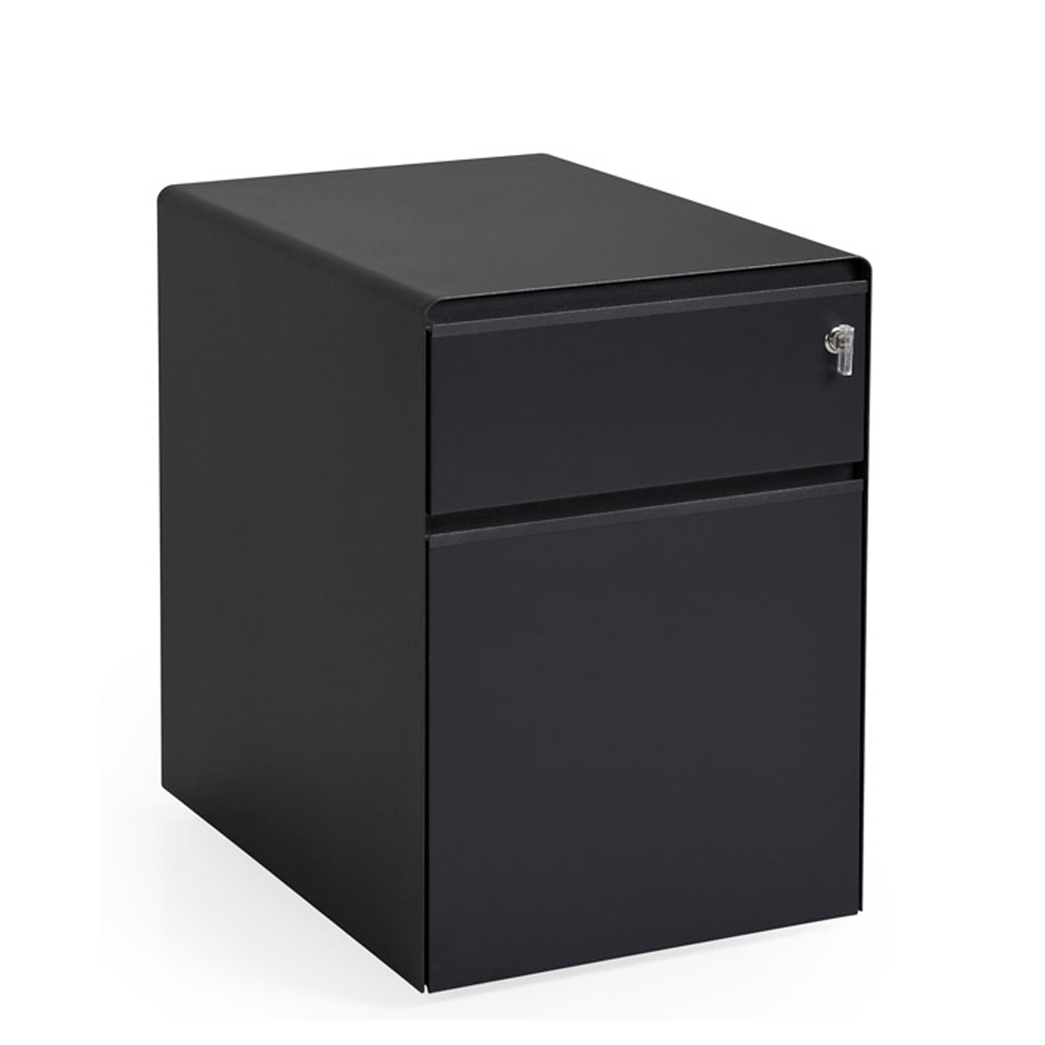 Song Black Pedestal Cabinets by Koray Malhan