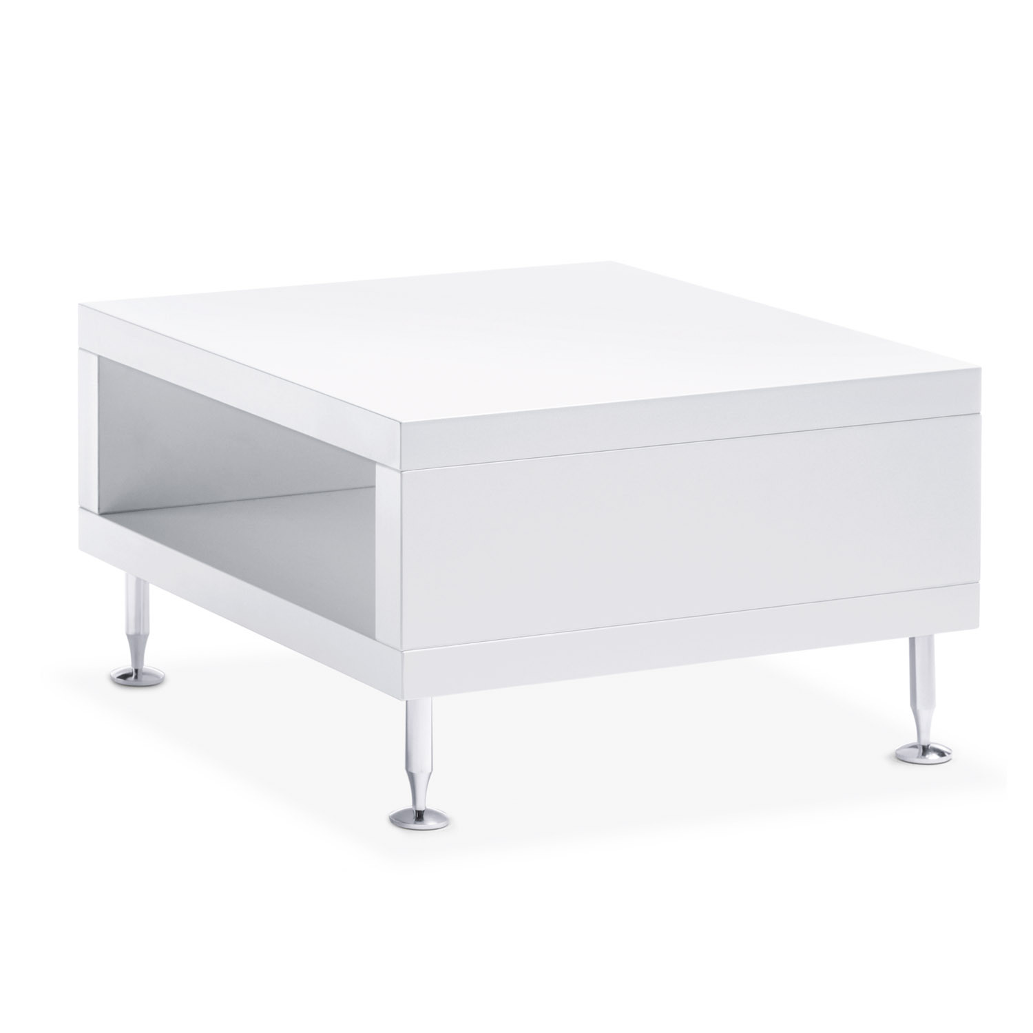 Sopha Square White Side Table