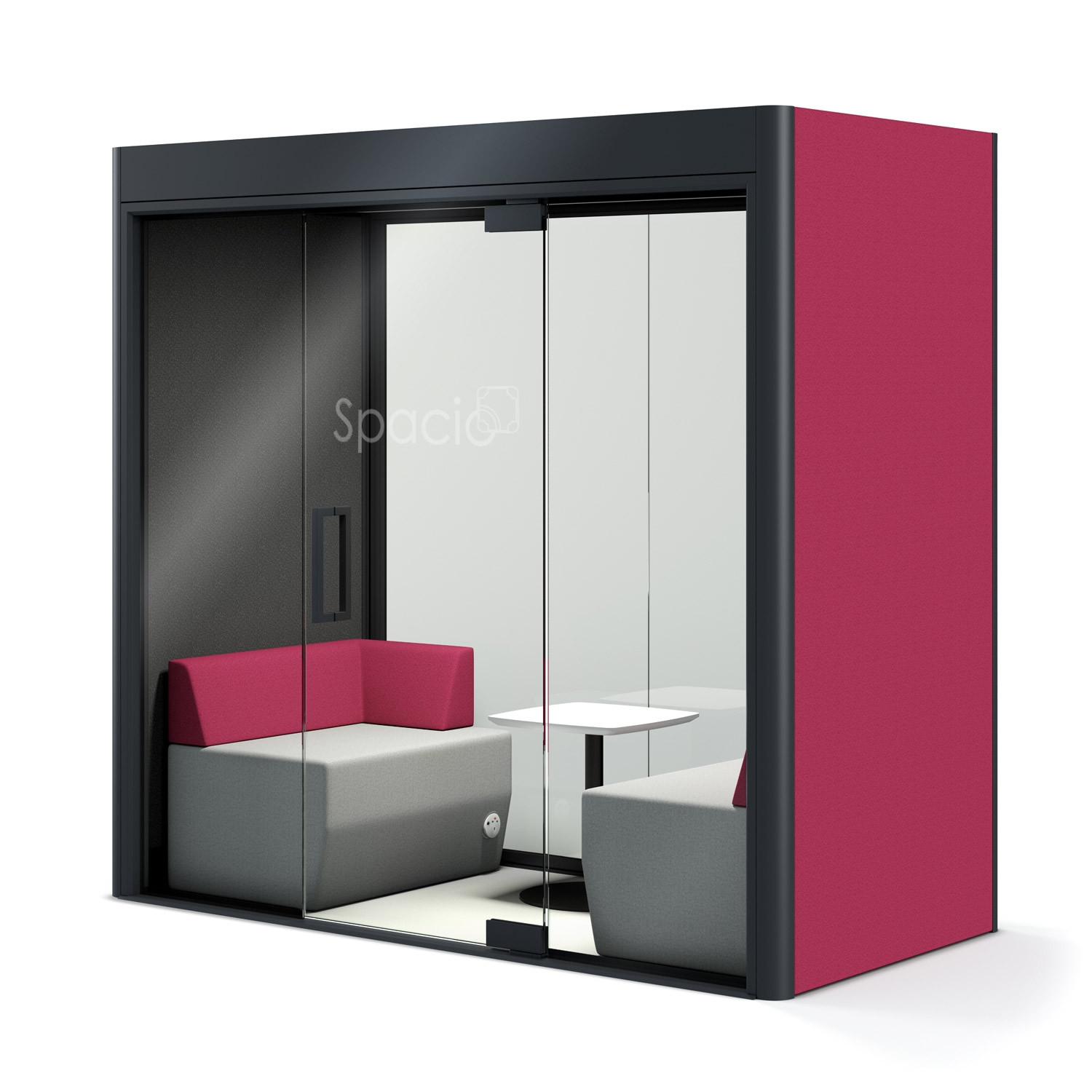 Spacio Privacy Lounge Pod black interior