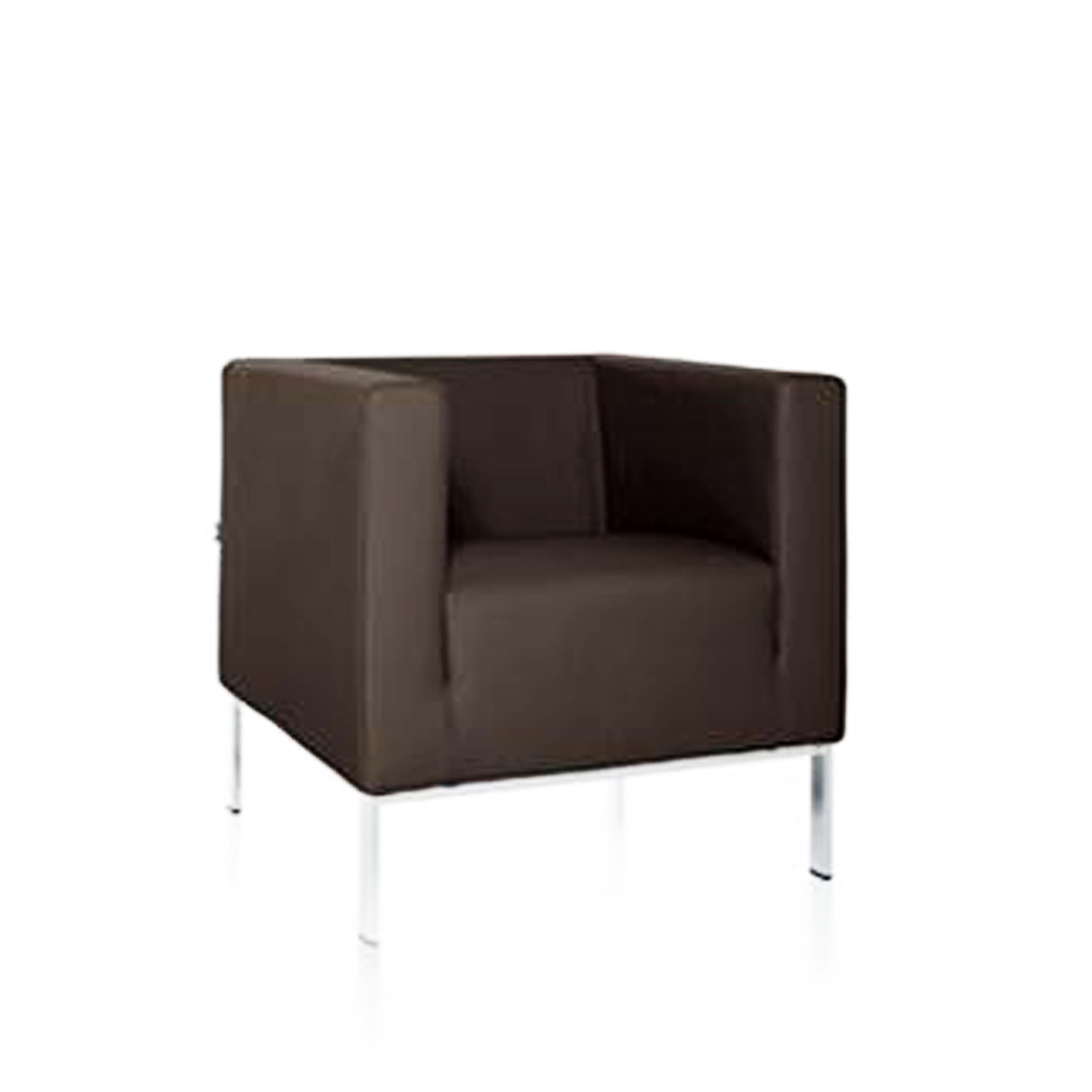 square sofa and armchair reception soft seating apres