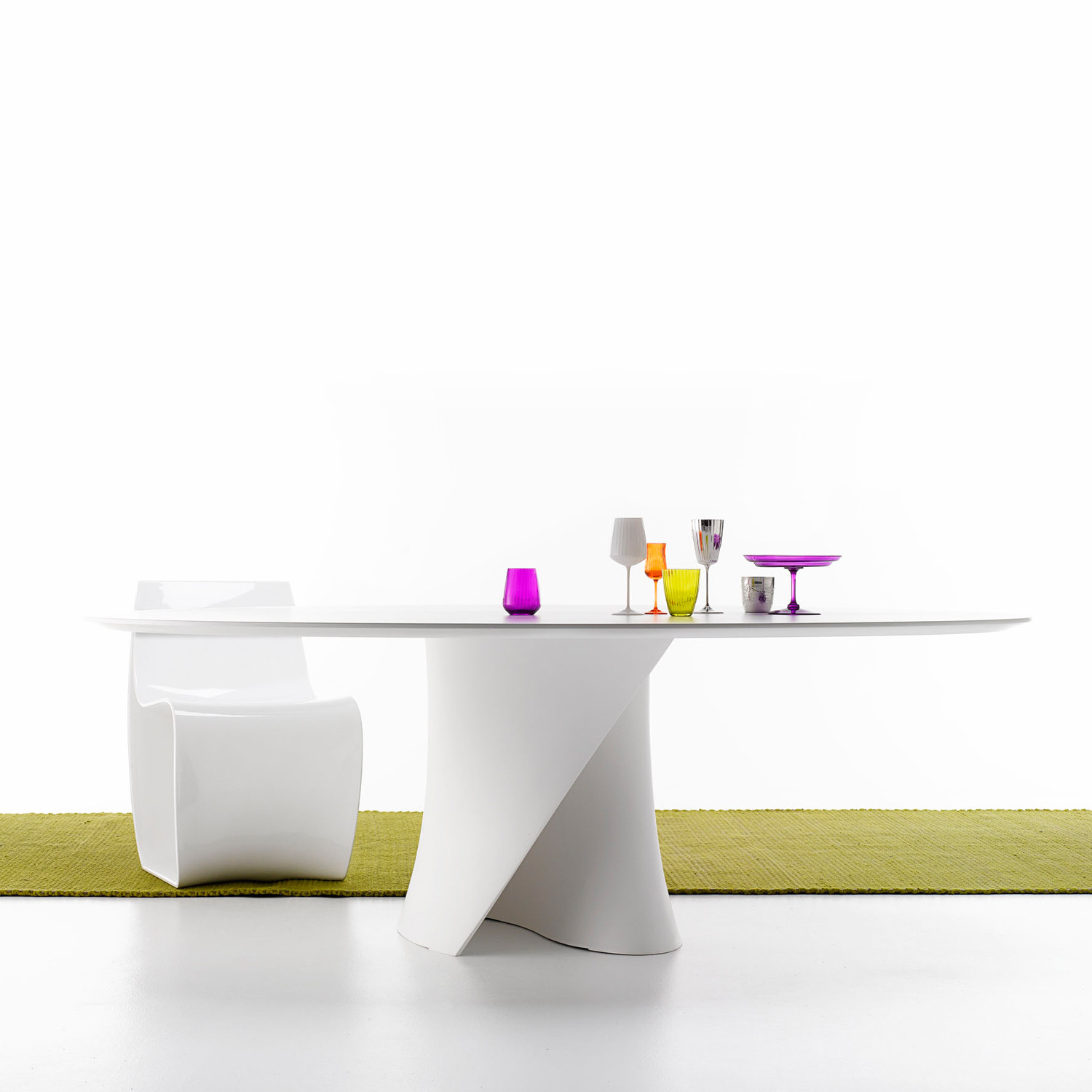 S Glass Top Table