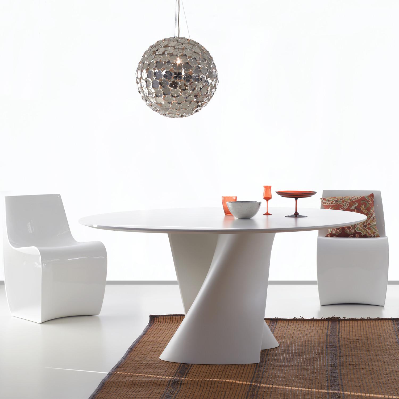S Table White