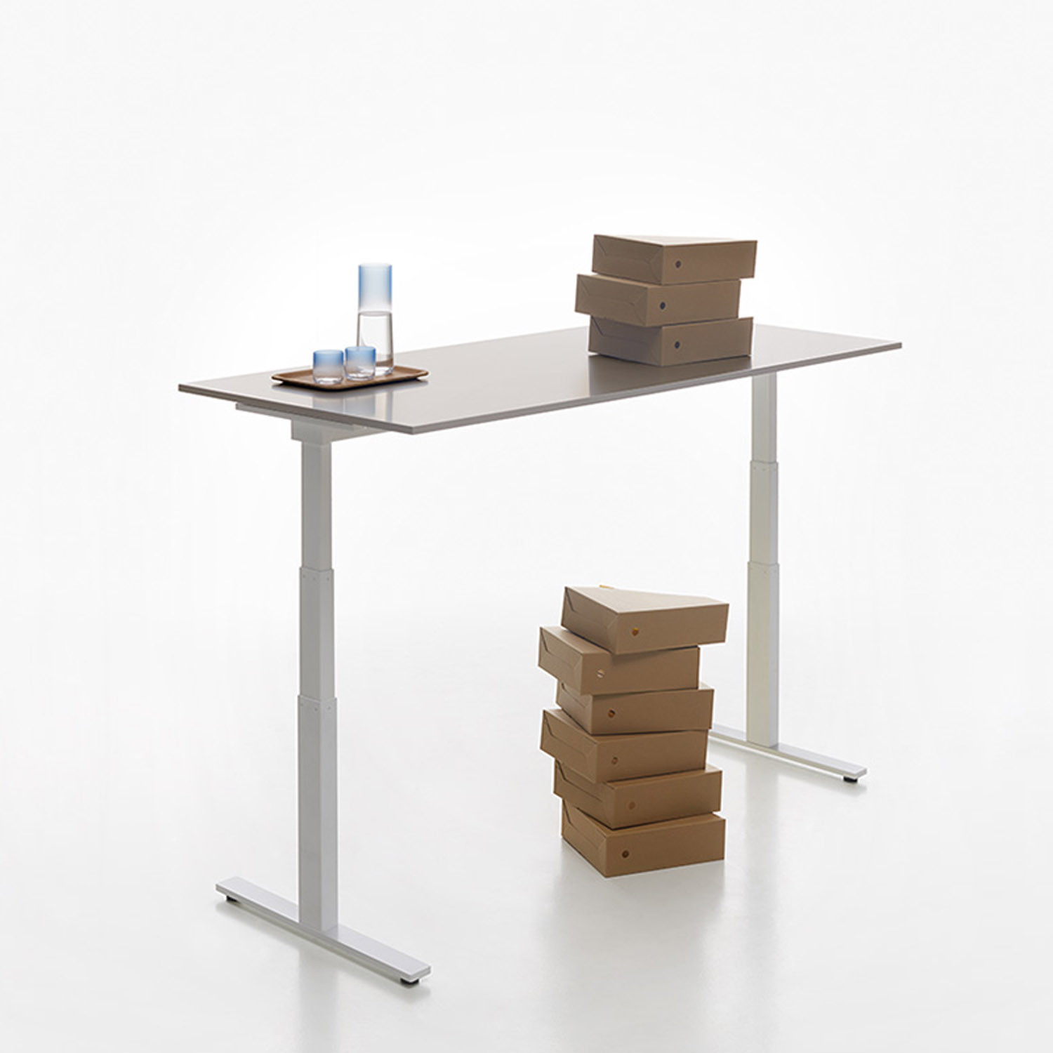 Stand Up T-Leg Battery Operated Desk