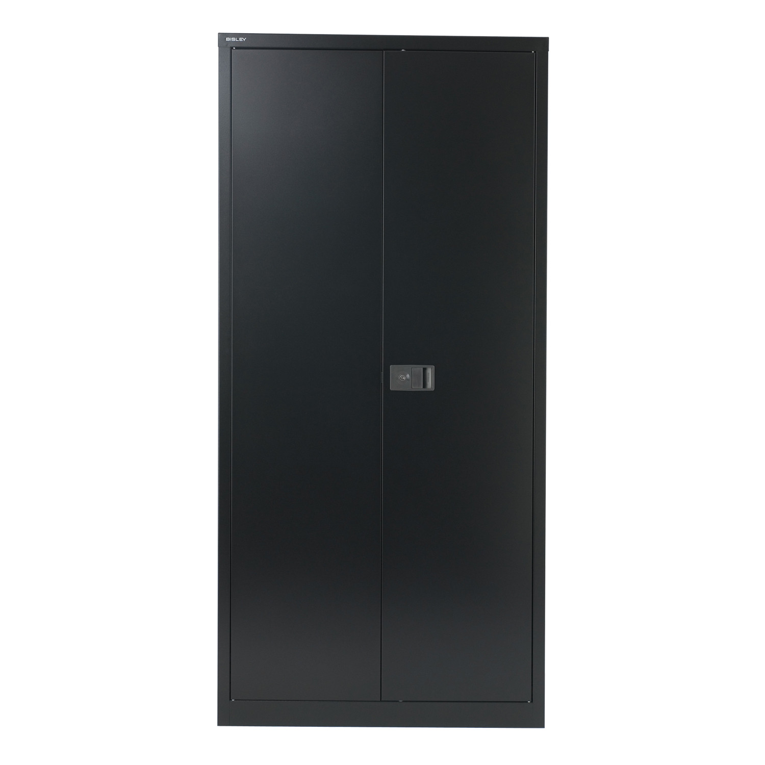 Two Door Office Cupboard in Black