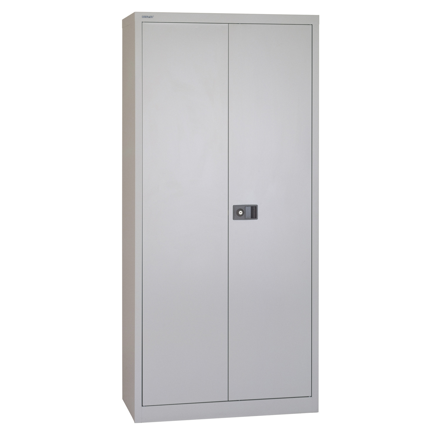 Two Door Office Cupboard in Goose Grey