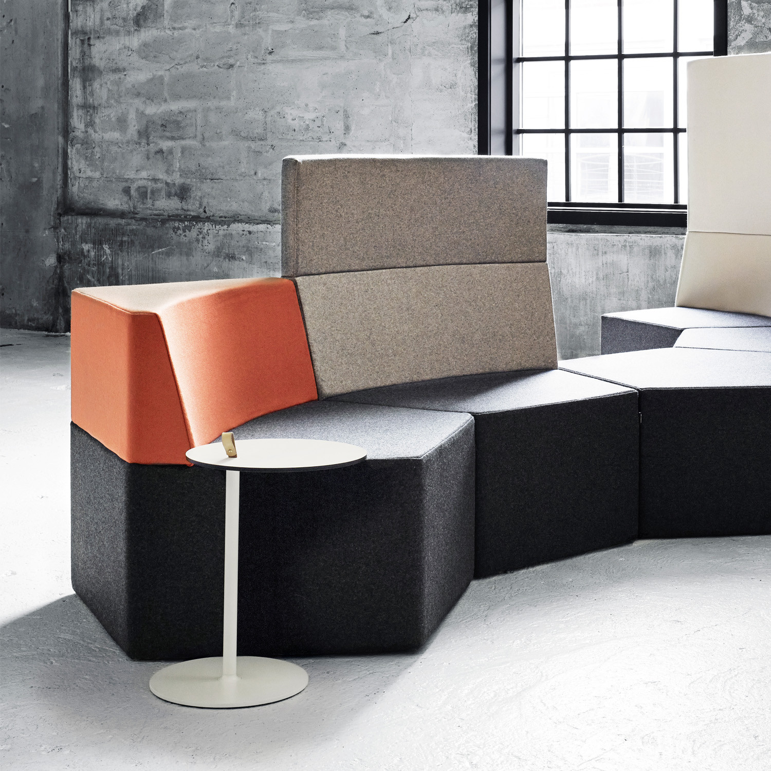 Strap Lounge Table with Manhattan Modular Seating