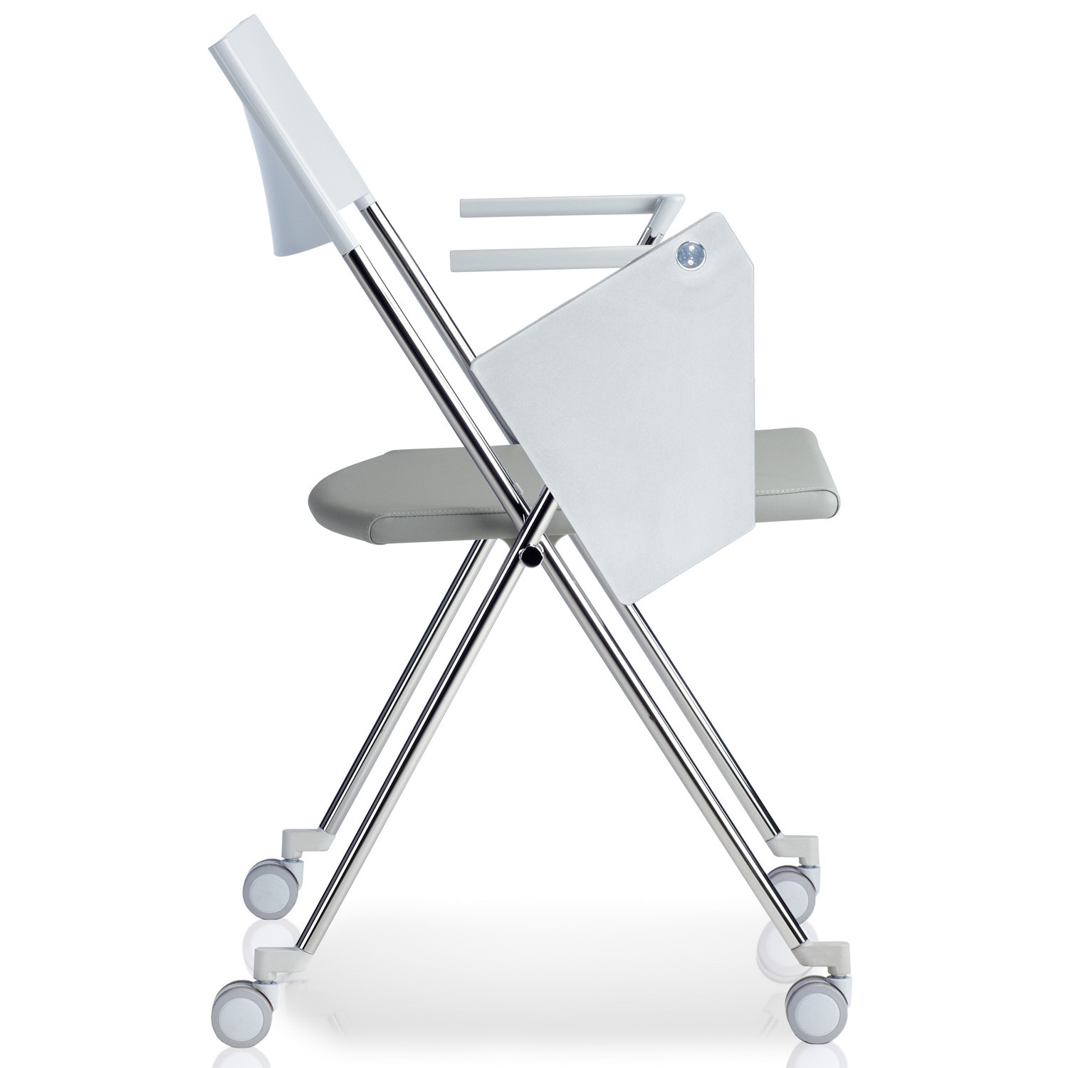 Strym Training Chair on castors with writing tablet