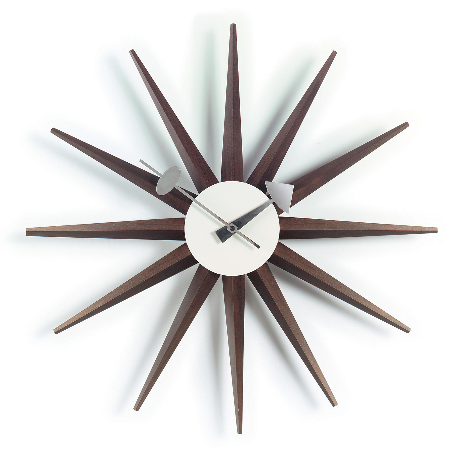 Walnut Sunburst Wall Clock