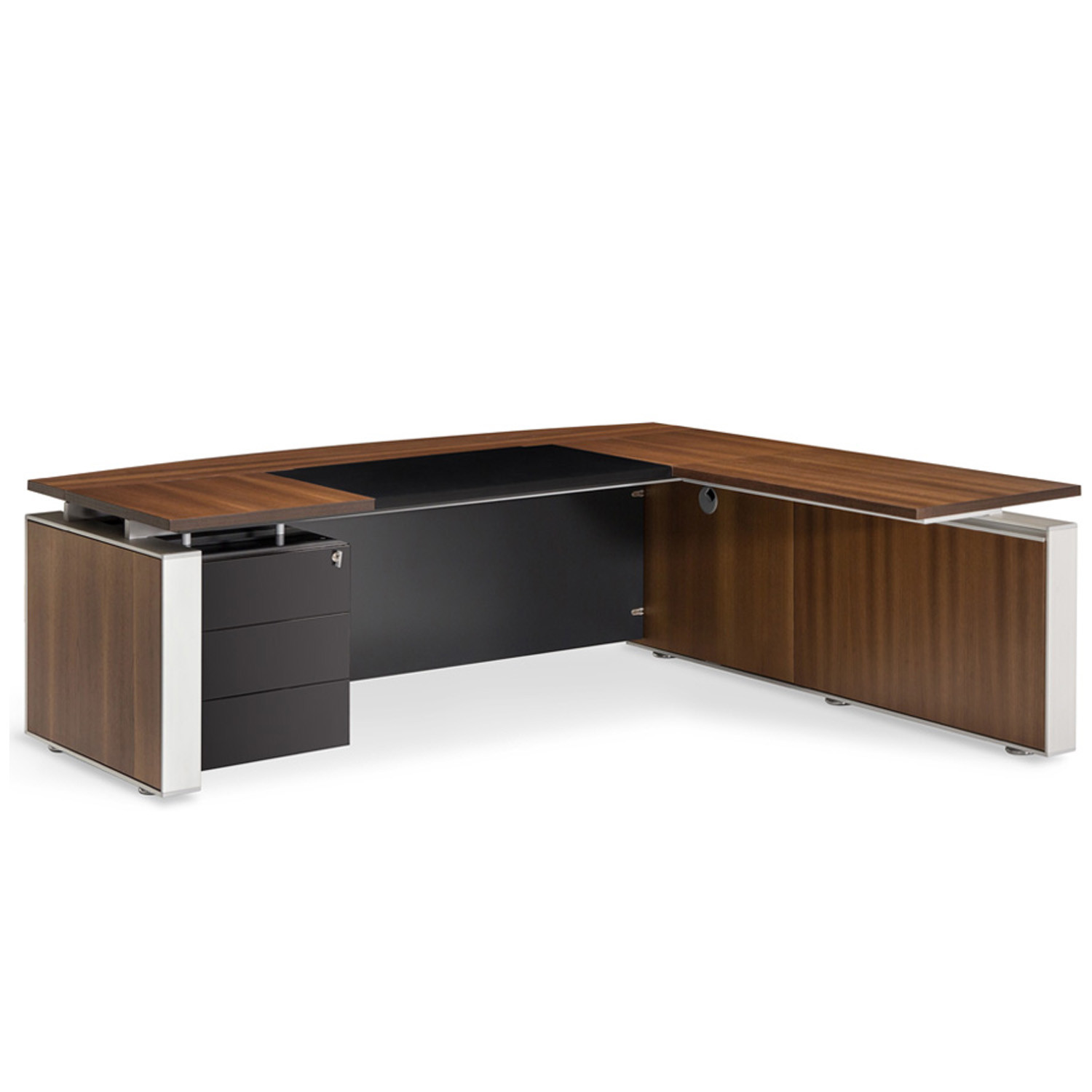 Swami L-Shaped Executive Desk