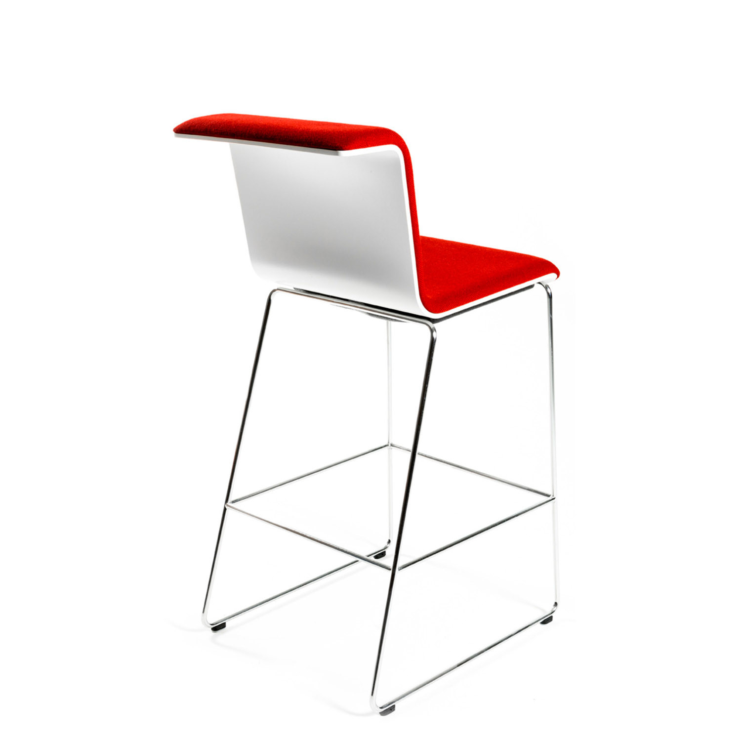 Tab Bar Stool with Curved Seat Shell