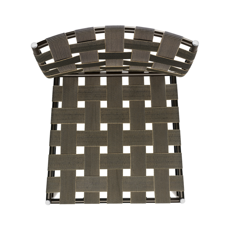 Tagliatelle Chair - brown elastic belts