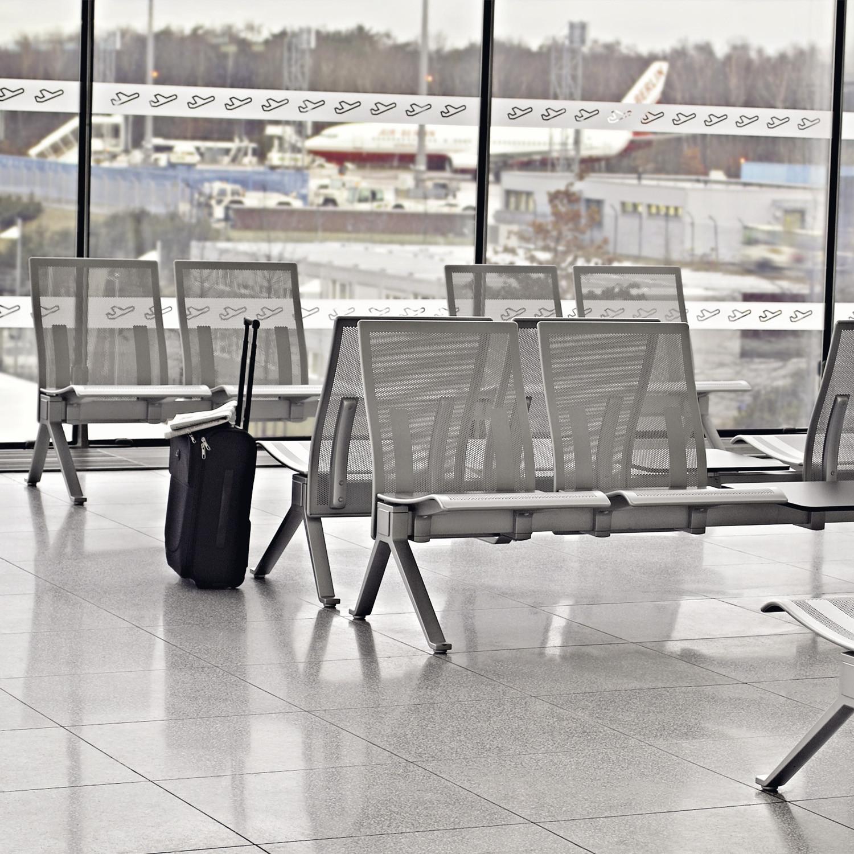 Take Airport Terminal Seating in metal finish