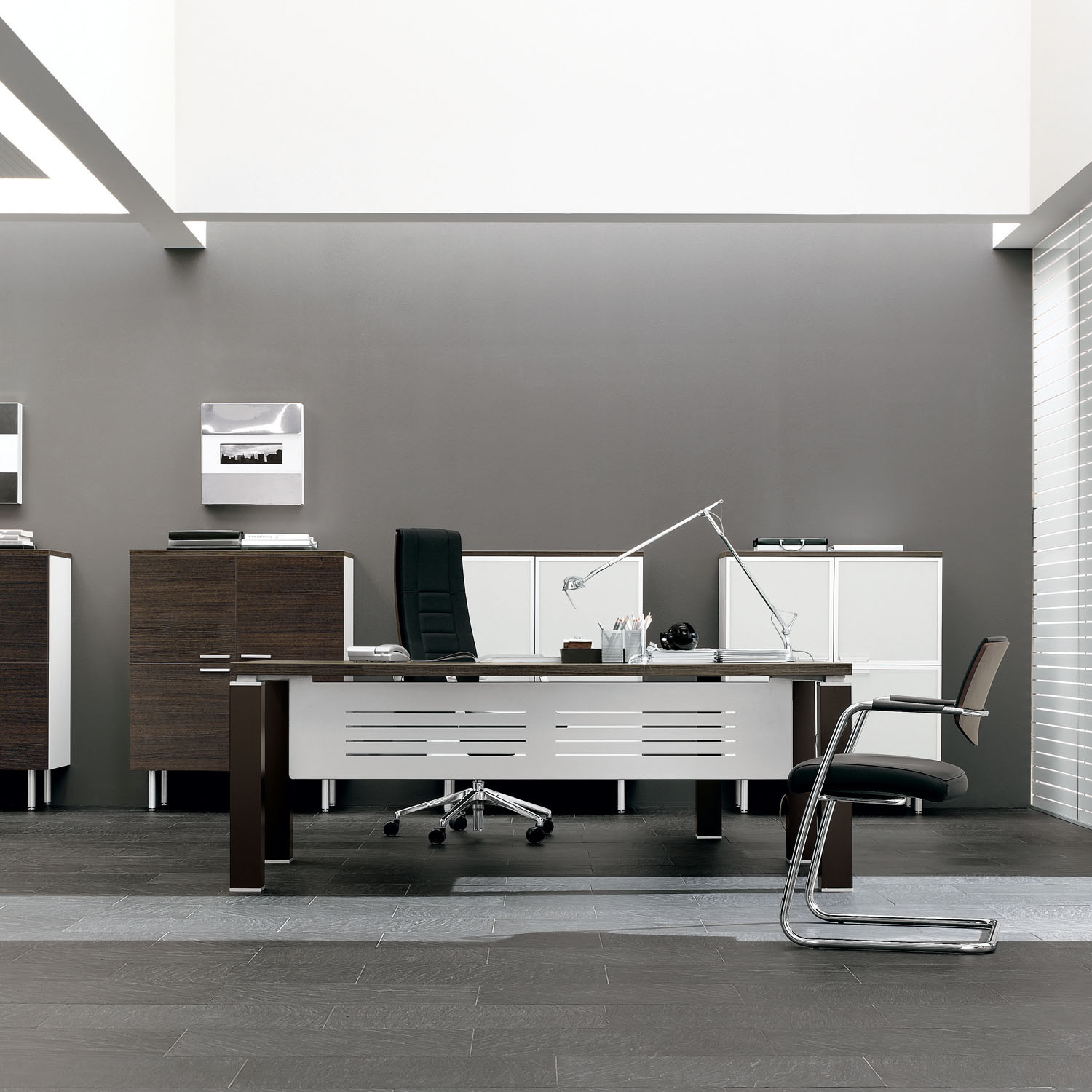 Tao Executive Office Desk with Modesty Panel