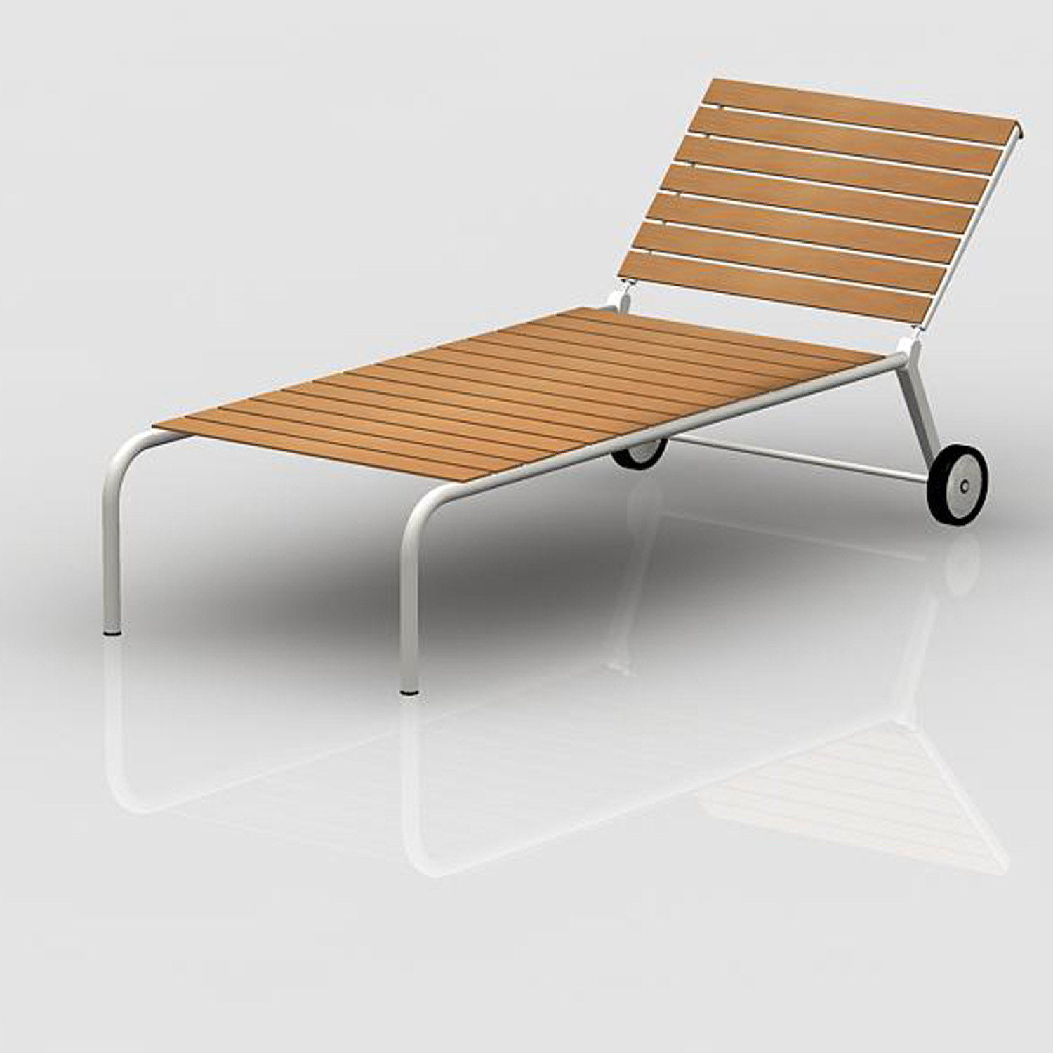 Teak Outdoor Series Chaise Longue