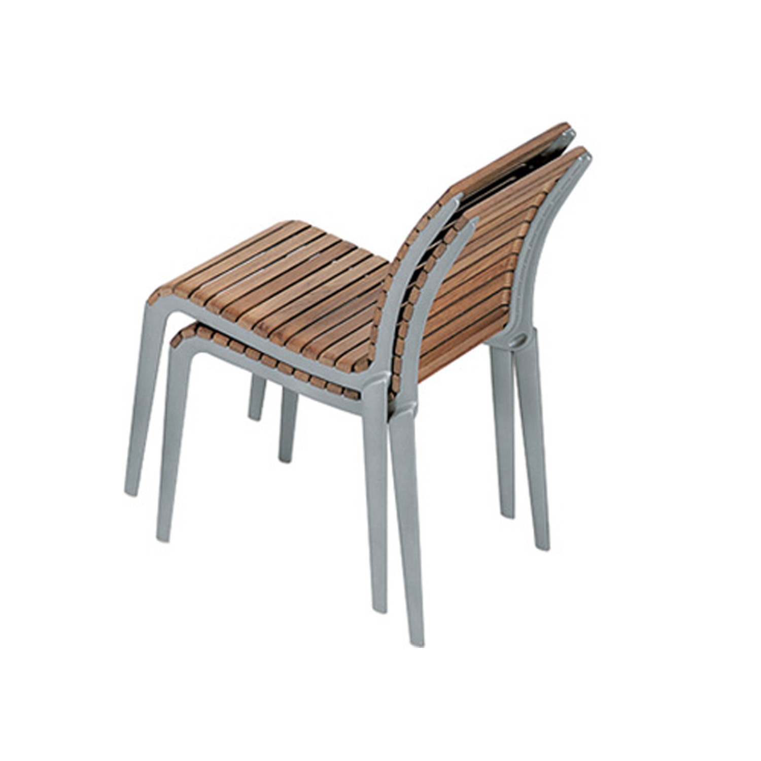 Teak Outdoor Stacking Chairs