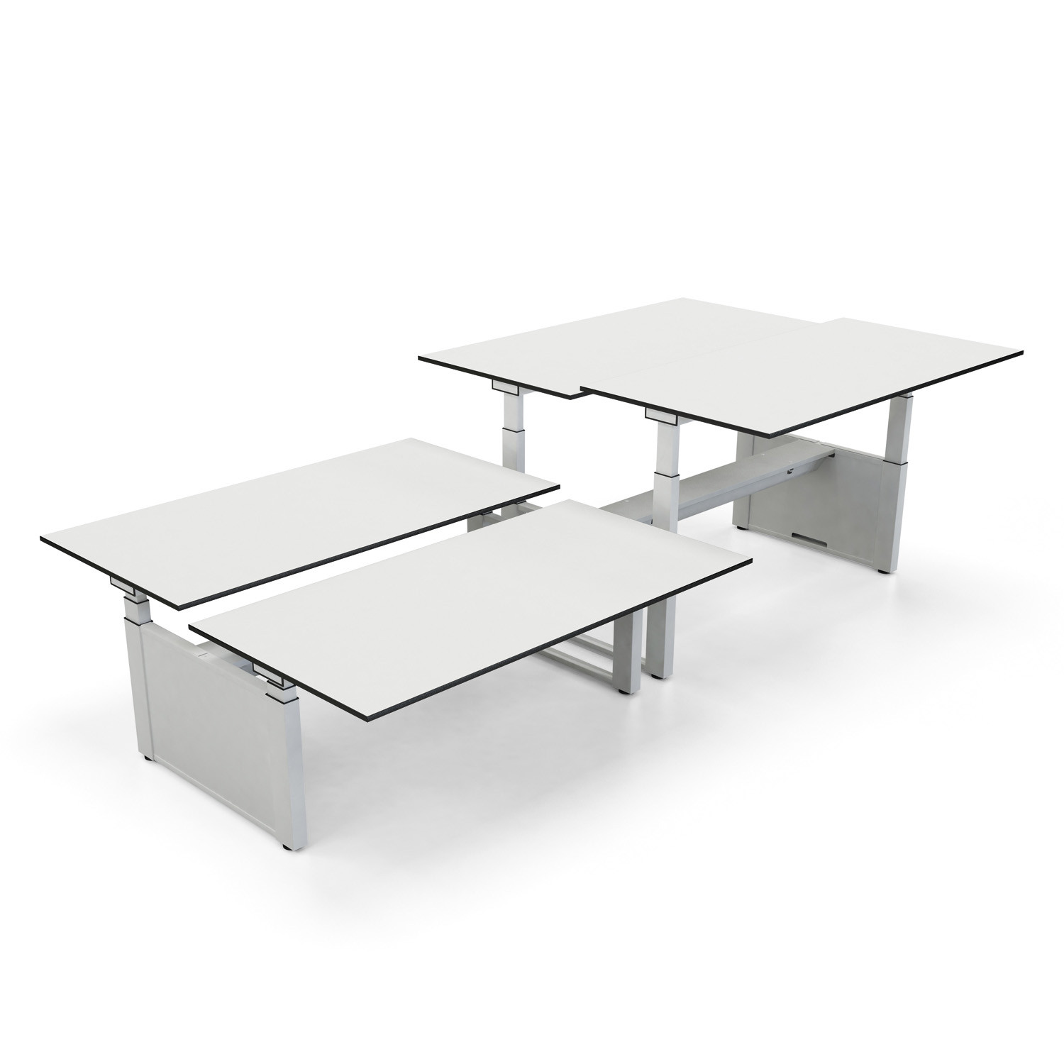 Temptation Twin Height Adjustable Bench Desks