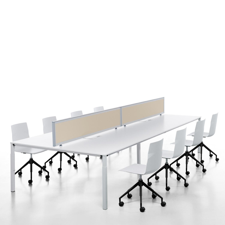 Temptation Four-Leg Desks combined to create a workstation