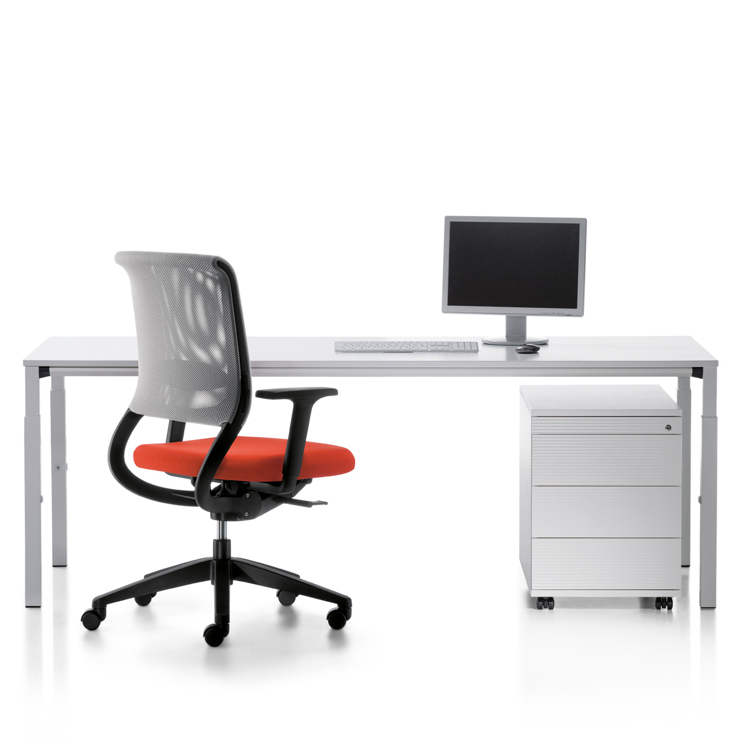 Temptation Four Office Desk + Desk Pedestal