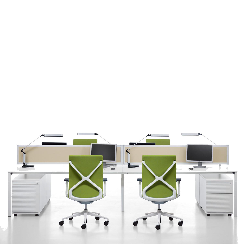 Temptation Four-Leg Desks + Storage + Desk Screens