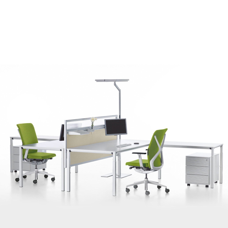 Temptation Four-Leg Desk + Table Return
