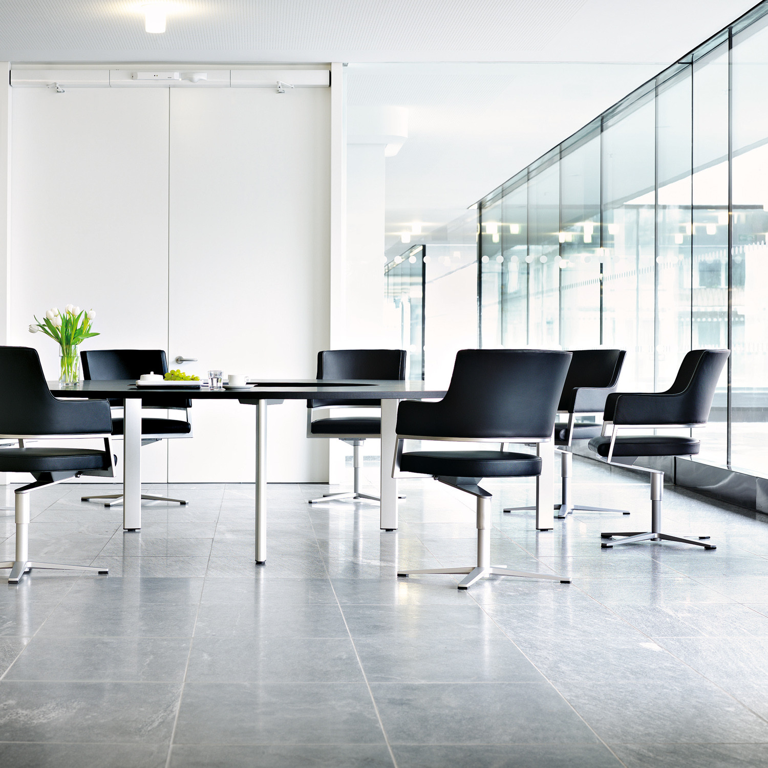 Tempus Leather Meeting Chairs
