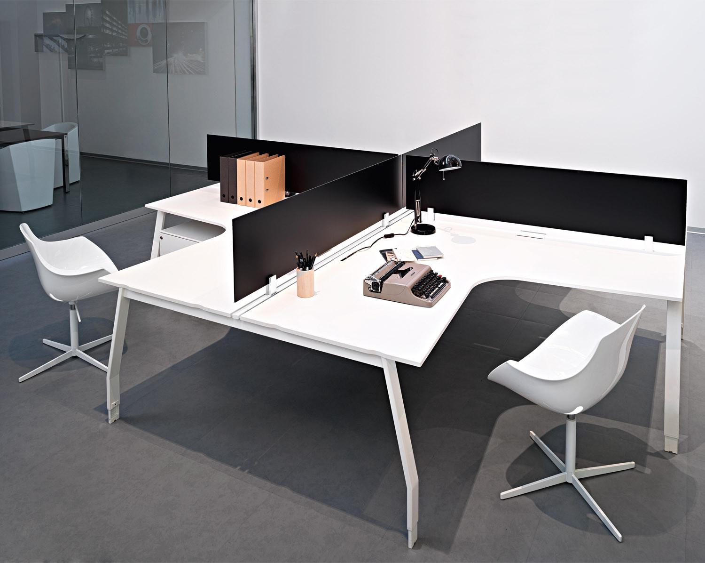 Sinetica Ten Up Operative Curved Desks