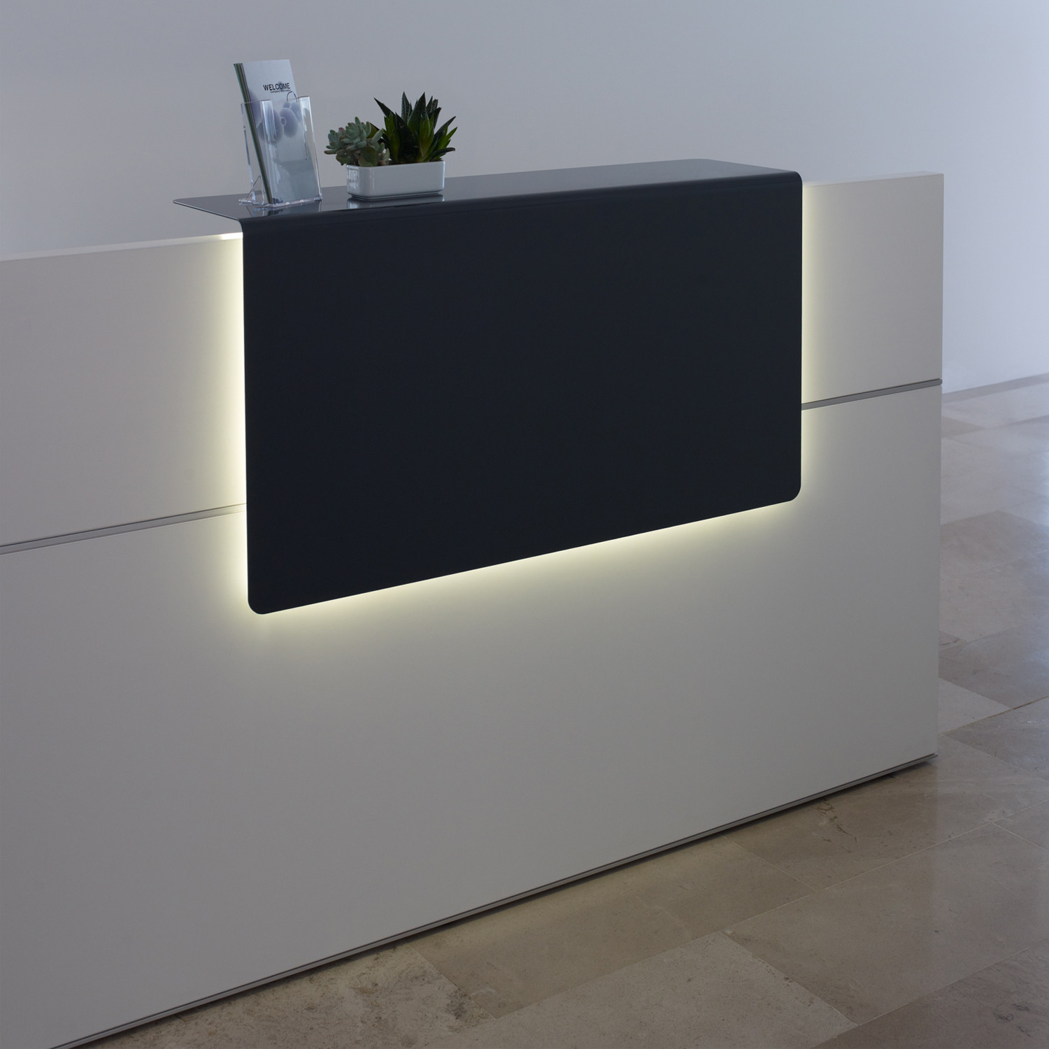 Sedus Reception Desk with lighting panel