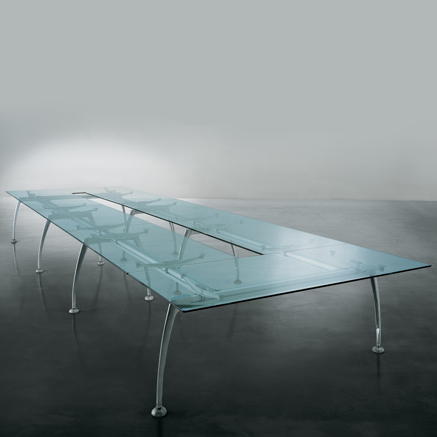 Tiper Glass Conference Table