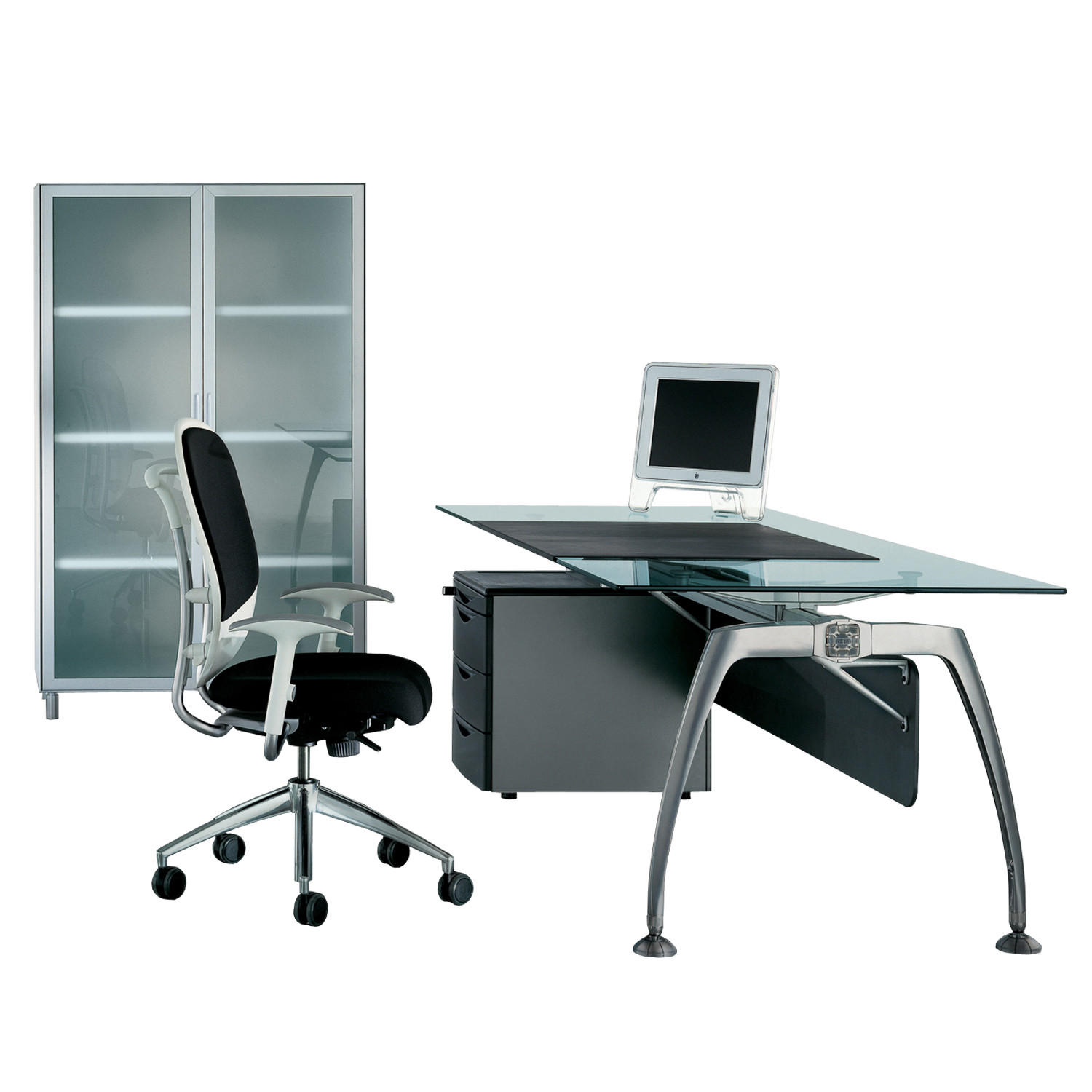 Tiper Glass Executive Desk