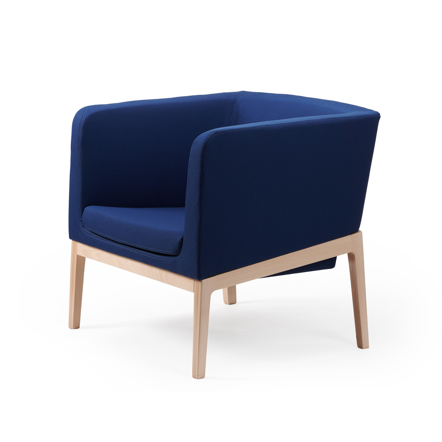 Tonic Lounge Chair 4-Legged Wood Base