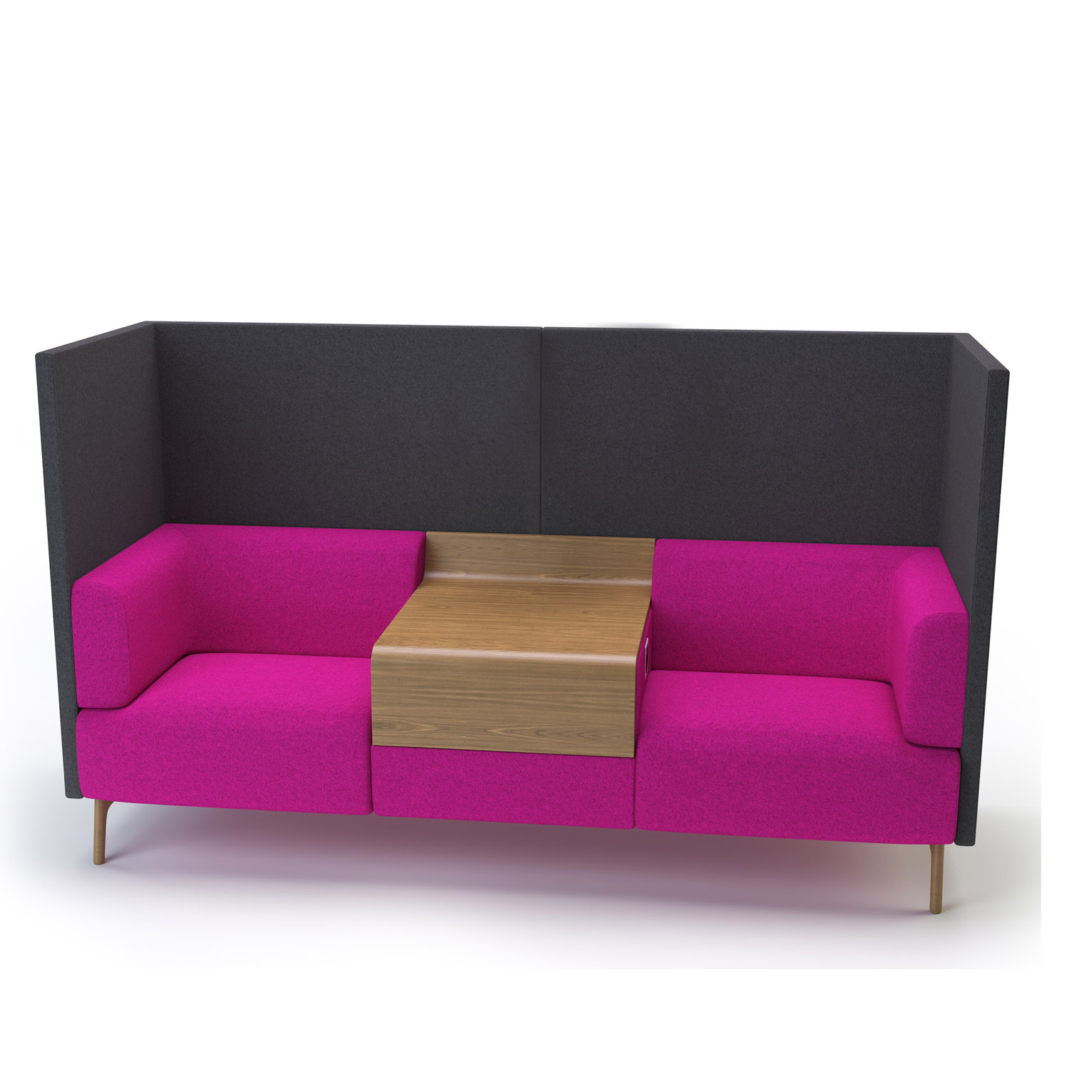 Tryst HB Sofa with integrated table