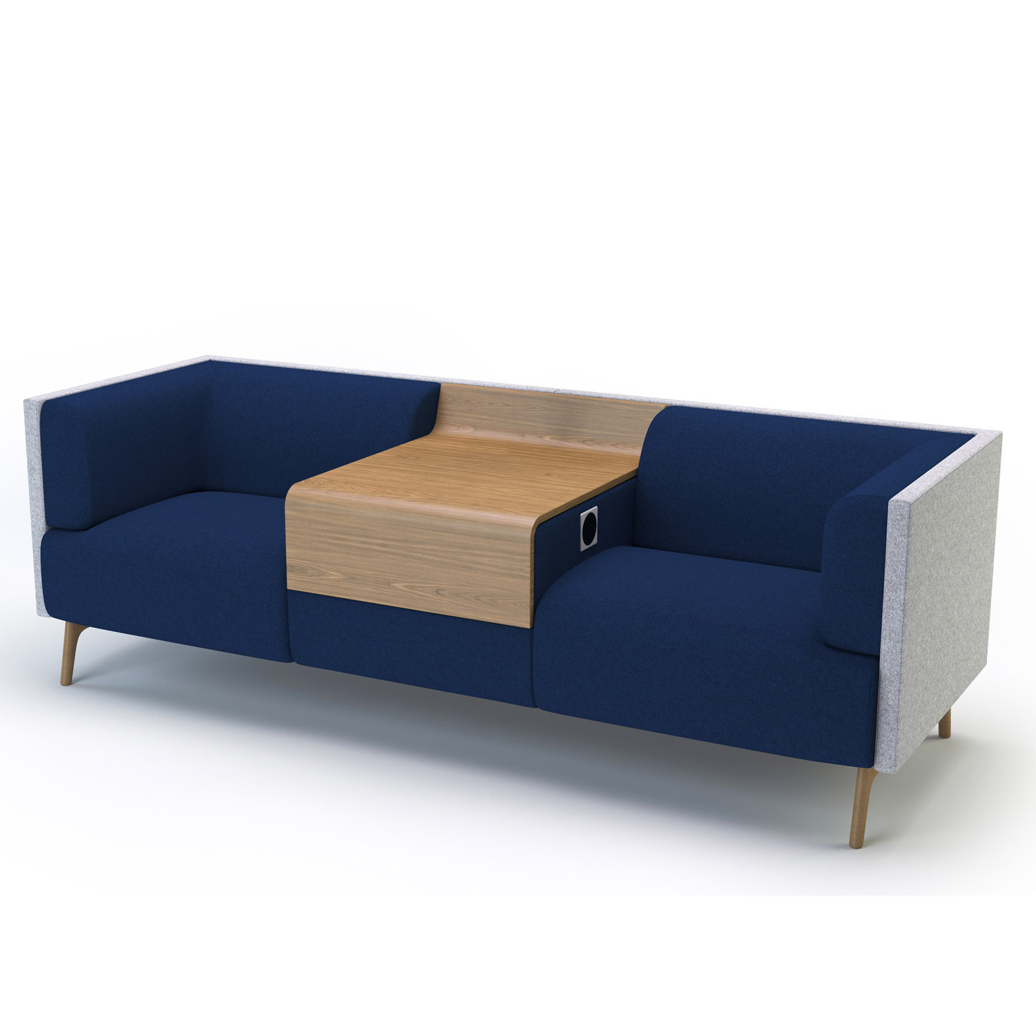 Tryst Low Back Sofa with integrated table