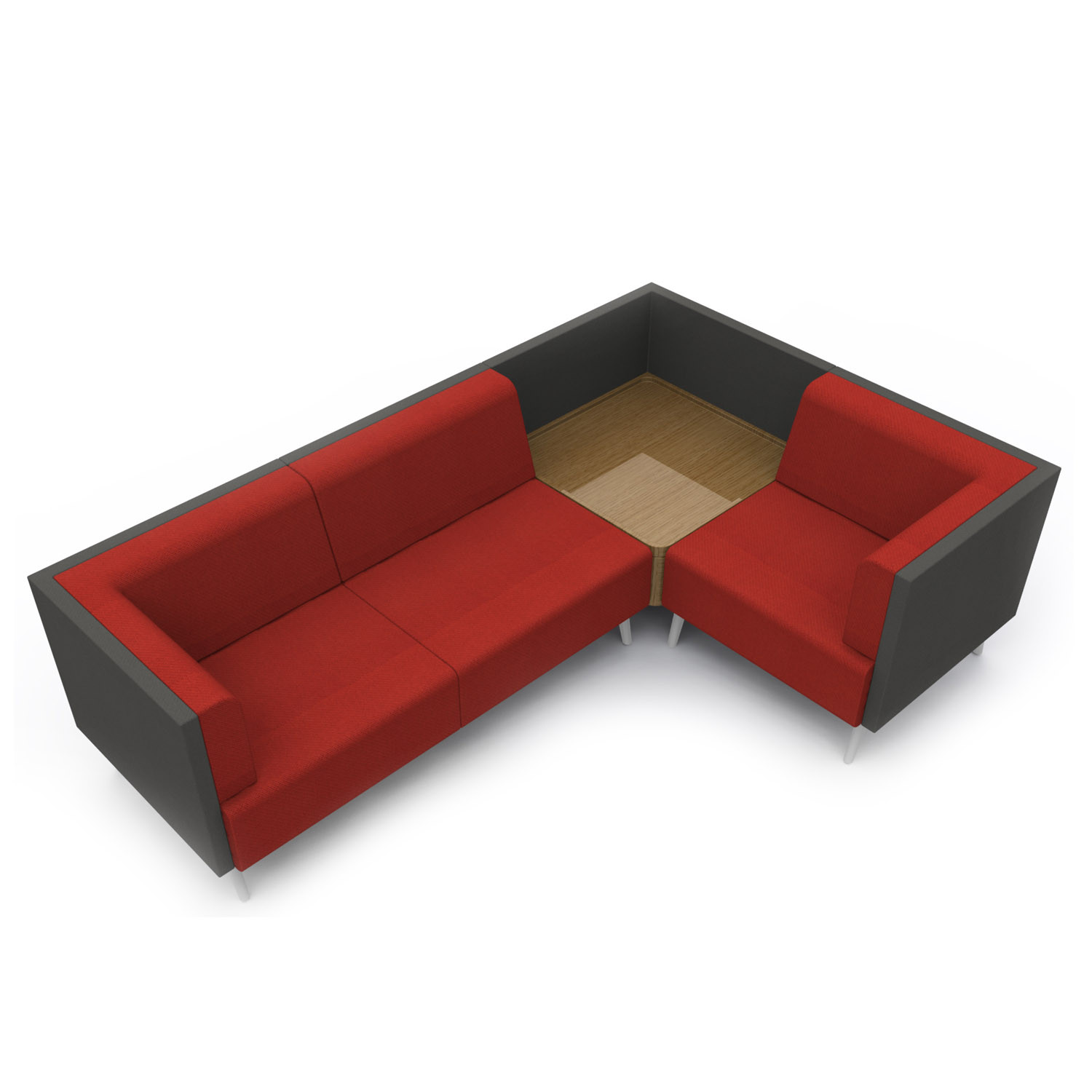 Tryst L-Shaped Sofa with integrated table