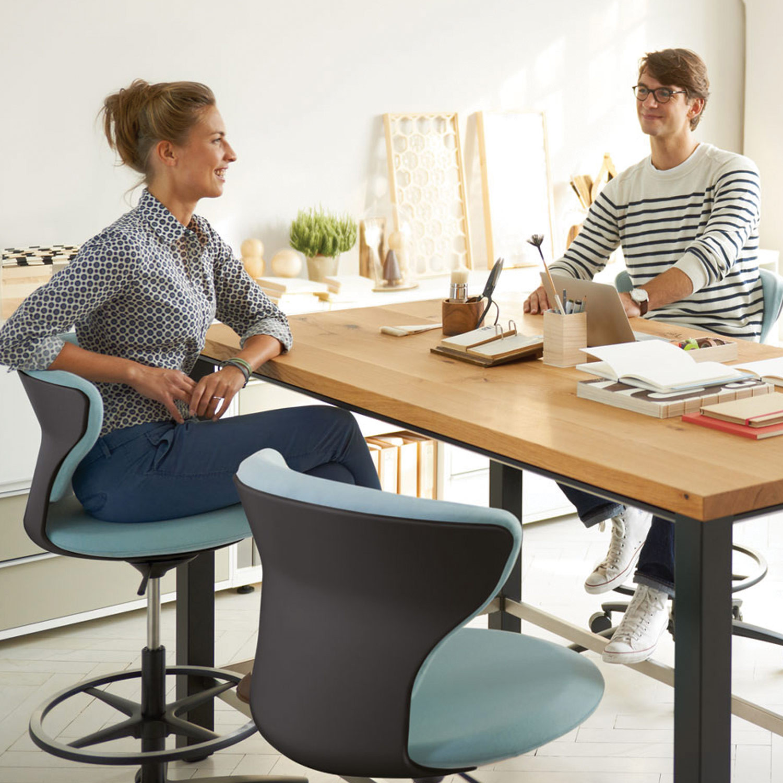 Turn Around High Desk Chairs