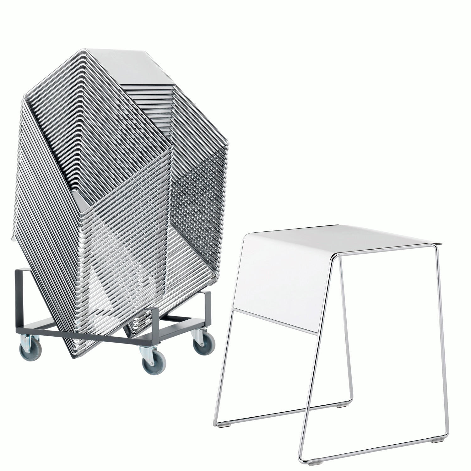 Tutor Stacking Tables + Trolley
