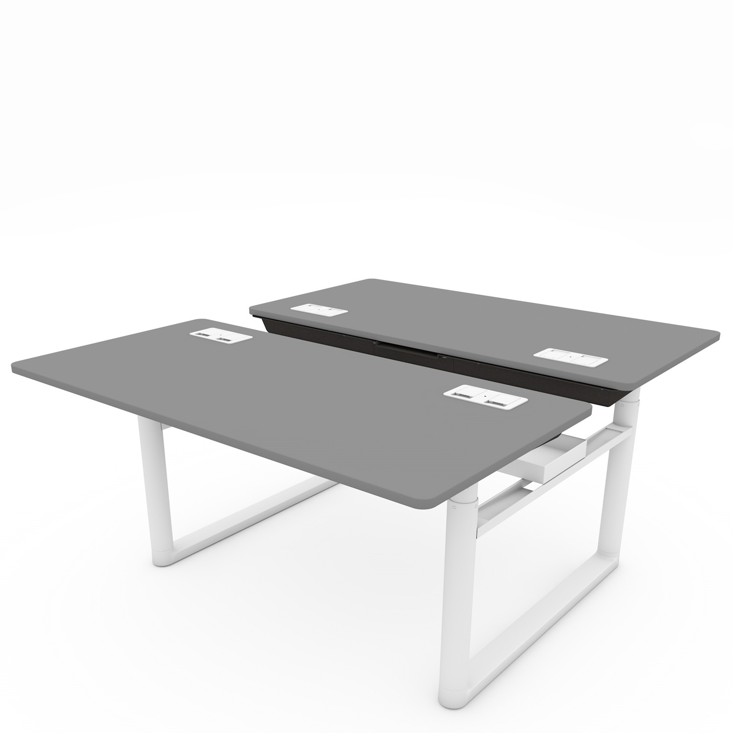 Tyde Sit-Stand Bench Desk   - Tyde Sit-stand office desks · Tyde Sit-stand double office workstations ...