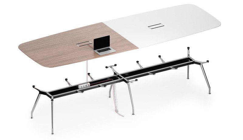 Unitable Meeting Tables with Cable Management