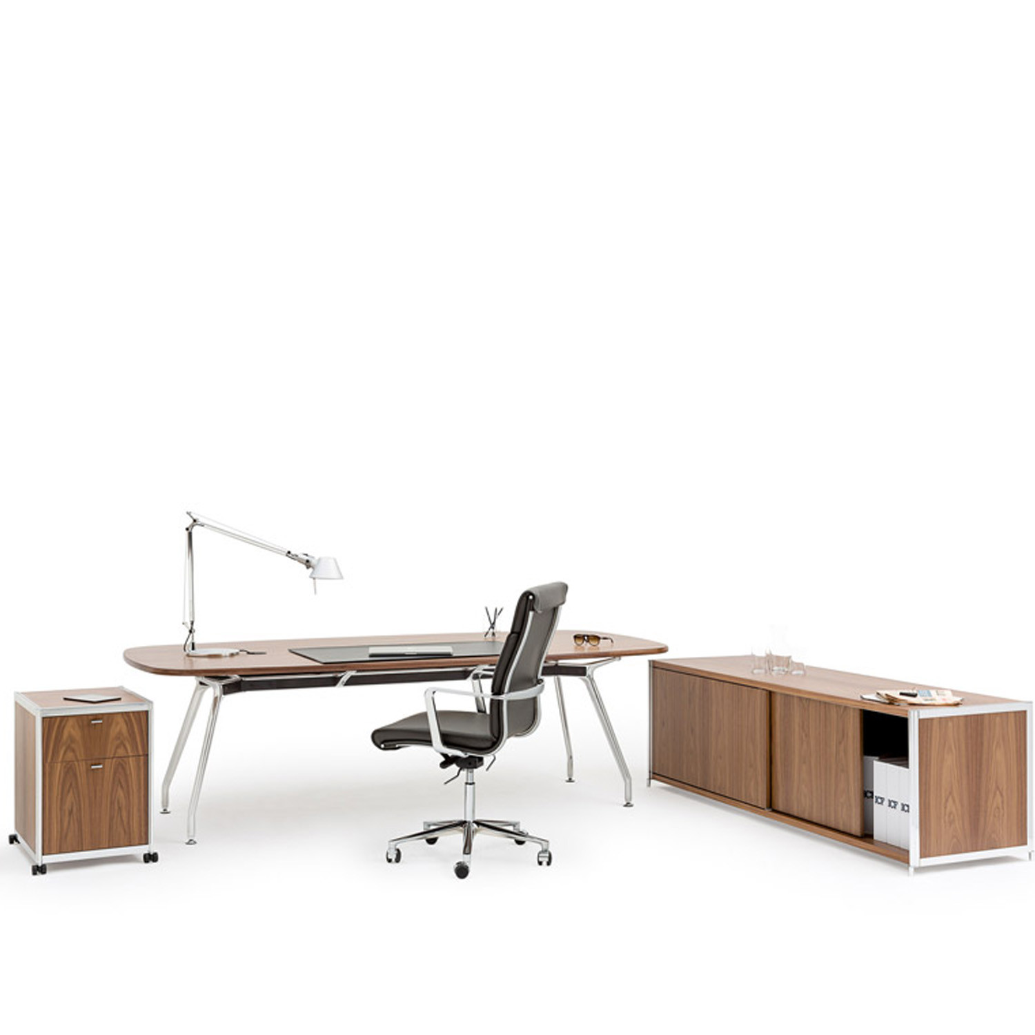 Unitable Executive Desk and Credenza