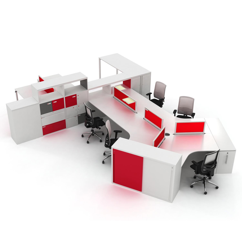 Unite SE Desking System by KI Storage
