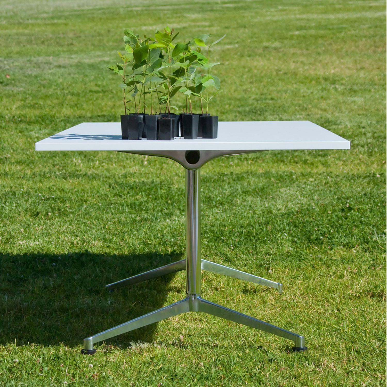 U.R. Folding Tables Outside Setting
