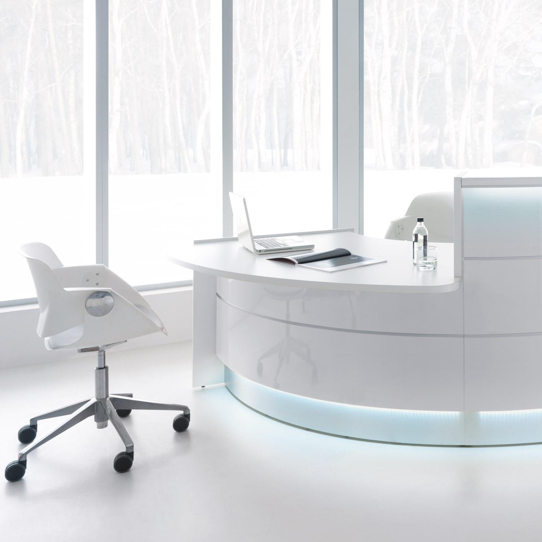 Valde Reception Desk With LED Lighting
