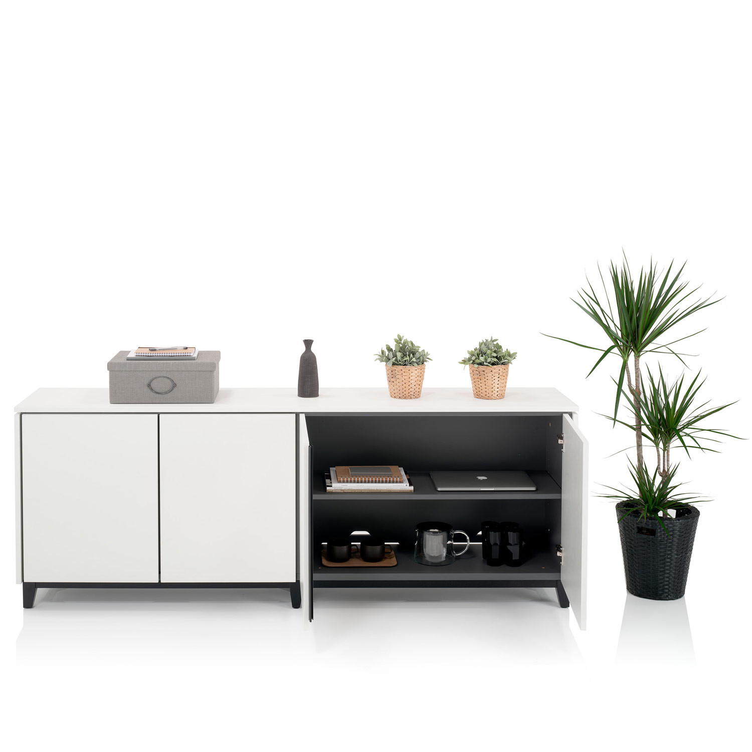 Vari Colour Four-Door Credenza