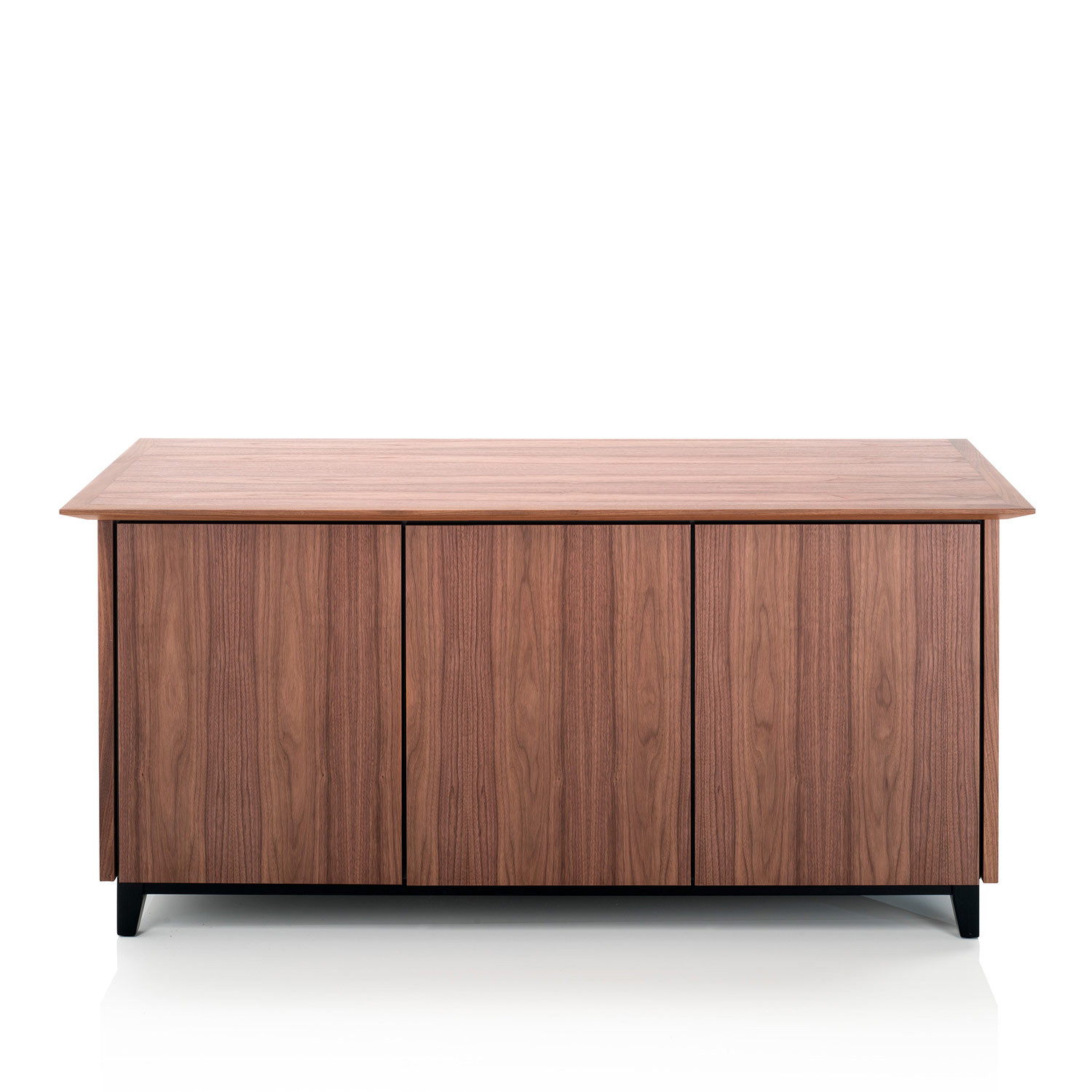 Vari Three Door Credenza With Chamfered Edge